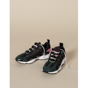 Trainers In Mixed Materials