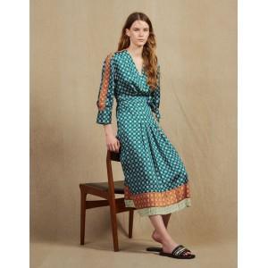 Patchwork Printed Long Dress