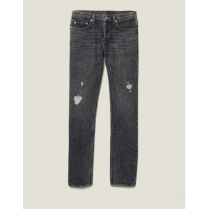 Washed Slim-Fit Non-Stretch Jeans