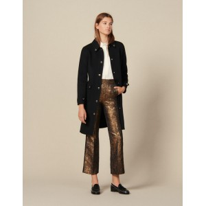 Flared Brocade Tailored Trousers
