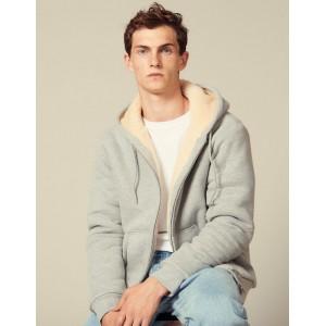Zipped sherpa hoodie