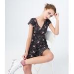 Floral V-Neck Button-Front Shirt Dress