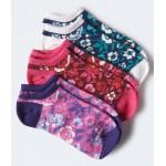 3-Pack Floral Ankle Socks
