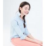 Long Sleeve Light Wash Chambray Woven Shirt