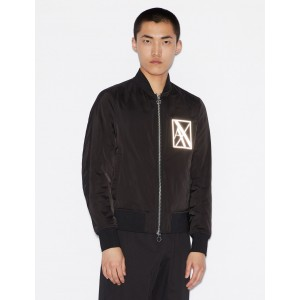 Armani Exchange BOMBER WITH REFLECTIVE LOGO, Blouson Jacket for Men | A|X Online Store