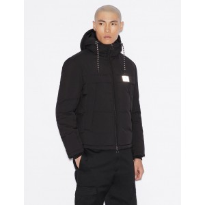 Armani Exchange PUFFER WITH REFLECTIVE DETAILS, PUFFER JACKET for Men | A|X Online Store