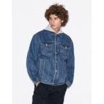 Armani Exchange HOODED DENIM JACKET, Denim Jacket for Men   A X Online Store