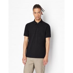 Armani Exchange SOLID COLOR POLO WITH SIDE SLITS, SHORT SLEEVES POLO for Men | A|X Online Store