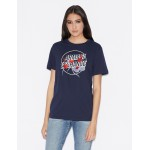 BOY-FIT T-SHIRT WITH CONTRASTING PRINT