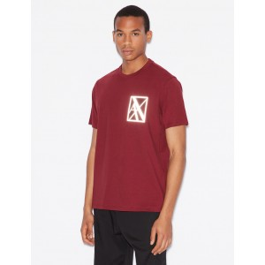 Armani Exchange TEE WITH REFLECTIVE LOGO, Logo T Shirt for Men | A|X Online Store
