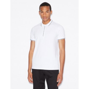 Armani Exchange SLIM FIT POLO SHIRT, SHORT SLEEVES POLO for Men | A|X Online Store