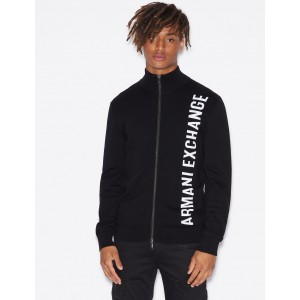 Armani Exchange PULLOVER WITH ZIP, Cardigan for Men | A|X Online Store
