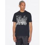 Armani Exchange REGULAR FIT T SHIRT, Graphic T Shirt for Men   A X Online Store
