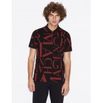 Armani Exchange REGULAR FIT ALL OVER LOGO POLO, SHORT SLEEVES POLO for Men | A|X Online Store