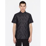 Armani Exchange REGULAR FIT ALL OVER LOGO SHIRT, Printed Shirt for Men | A|X Online Store