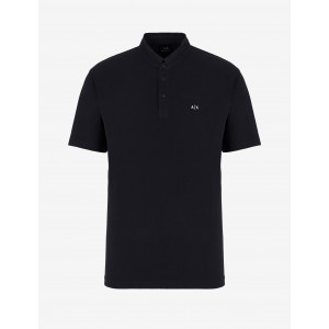 Armani Exchange POLO WITH STAND UP COLLAR, SHORT SLEEVES POLO for Men | A|X Online Store