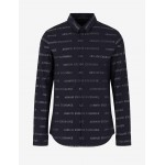 Armani Exchange SLIM FIT ALL OVER LOGO SHIRT, Printed Shirt for Men | A|X Online Store