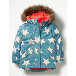 All-Weather Waterproof Jacket - Delphinium Blue Shadow Stars