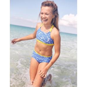 Patterned Bikini Bottoms - Oasis Blue Mermaid Toile