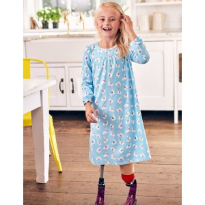 Printed Nightie - Delphinium Blue Llamas
