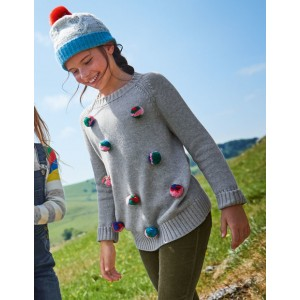 Pompom Jumper - Grey Marl