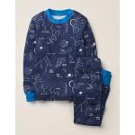 Glow-In-The-Dark Pajamas - College Blue Star Gazing