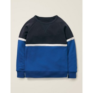 Sporty Sweatshirt - College Blue/Duke Blue