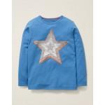 Sequin Colour Change T-Shirt - Elizabethan Blue Star