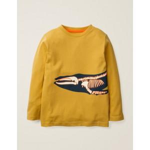 Glow-In-The-Dark Bones T-Shirt - Mellow Yellow Whale