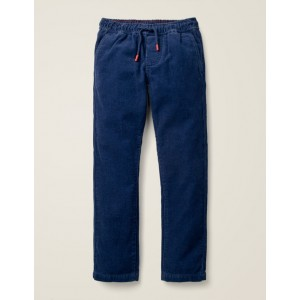Relaxed Slim Pull-On Pants - College Blue Cord