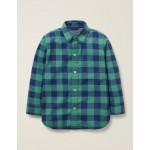 Casual Twill Shirt - Starboard Blue/Asparagus Green