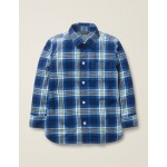 Casual Twill Shirt - College Blue/Hike Green