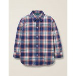 Casual Twill Shirt - Dusky Rose Pink/Hike Green