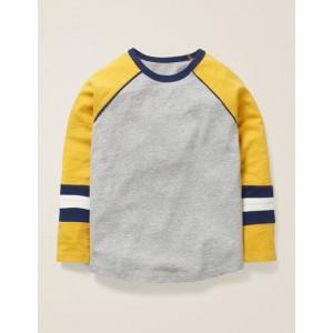 Raglan T-Shirt - Grey Marl/Mustard Yellow