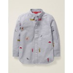 Oxford Shirt - Grey Marl London Embroidered