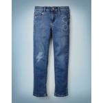 Lightning Bolt Slim Jeans - Mid Vintage