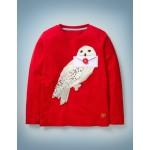 Hedwig Applique T-Shirt - Rockabilly Red