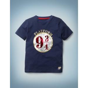 Platform 9 3/4 Sequin T-Shirt - College Blue