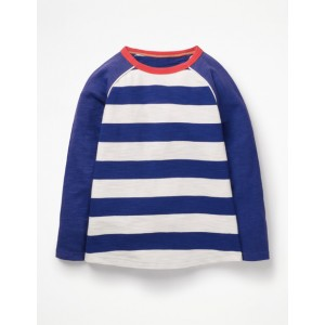 Raglan T-Shirt - College Blue/Ecru