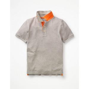 Pique Polo Shirt - Grey Marl