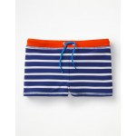 Swim Trunks - College Blue/Ivory