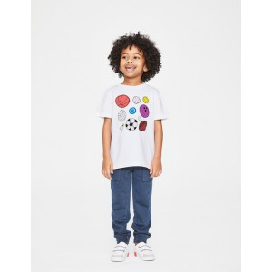 Sports T-Shirt - White Multi Balls