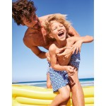 Sea Fun Swim Trunks - Duke Blue Geo