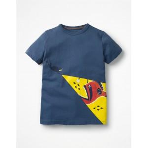 Glow-In-The-Dark Sea T-Shirt - Lagoon Blue Diver