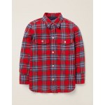 Brushed Check Shirt - Rockabilly Red/College Blue