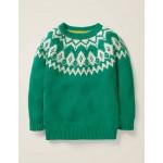 Chunky Festive Crew Sweater - Hike Green