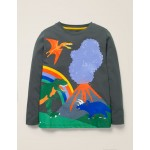 Adventure T-Shirt - Smoke Grey Dinosaur