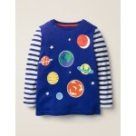 Glow-In-The-Dark Space T-Shirt - Howlin Blue Planets