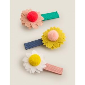 3 Pack Hair Clips - Multi Flowers