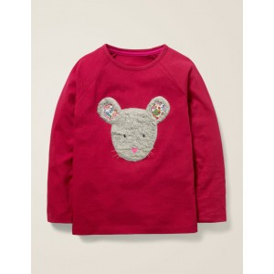 Animal Face T-Shirt - Bramble Red Mouse